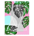 Poster with monstera leaves Decorative image of vector image
