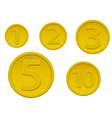 Set of gold coins vector image
