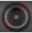 Speaker behind bars with red illumination vector image