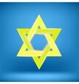 Yellow Star of David vector image