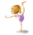 Cartoon Gymnast Girl vector image