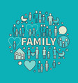 colorful family vector image