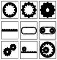 gear collection icon vector image