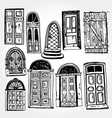 old doors vector image
