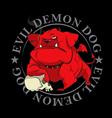 devil dog mascot vector image vector image