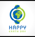 Creative Happy Earth Day Greeting vector image vector image
