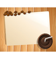 Banner and coffee vector image