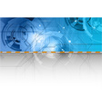 tech background in the blue color vector image