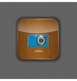 Camera wood application icons vector image