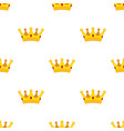 cartoon crown seamless pattern flat style vector image