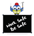 Construction work safe vector image