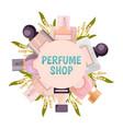 perfume shop frame background vector image