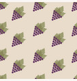 seamless pattern with grapes and leaves repeating vector image