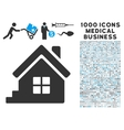 House Porch Icon with 1000 Medical Business vector image