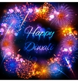 Firecracker on Happy Diwali Holiday background for vector image