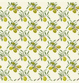Seamless pattern with olive vector image