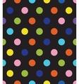 black polka dot seamless pattern vector image vector image