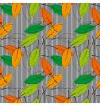 seamless background with colored leaves vector image vector image