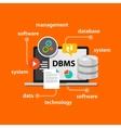dbms database management system computer data vector image