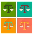 Concept of flat icons with long shadow justice vector image