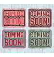 Coming soon signboard vector image