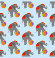 elephant in circus pattern vector image