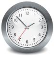 gray clock vector image