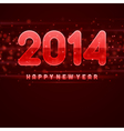 Happy New Year 2014 message vector image