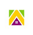 icon house realty construction media logo vector image