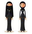 muslim arab woman in a hijab arab people vector image