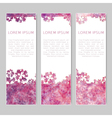 Set of three abstract colorful banners vector image