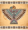 Tribal native American eagle symbols vector image