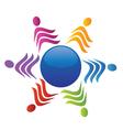 Teamwork social people logo vector image vector image