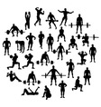 Bodybuilder and Fitness Silhouette vector image
