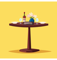 Reserved sign on the table in restaurant Cartoon vector image