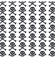 skull pattern background icon vector image