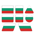 buttons with flag of Bulgaria vector image