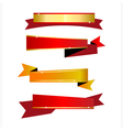 Ribbon gold and red vector image