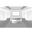 Lobby or reception interior vector image