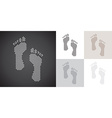 Dotted footprints vector image vector image