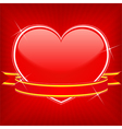 red heart with ribbon vector image