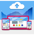 Development of adaptive design and a cloud service vector image