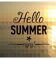 Summer card with sunset back and designed text vector image