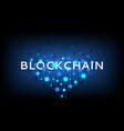 abstract blockchain concept banner vector image