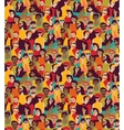 Big crowd happy people color seamless pattern vector image