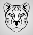 Cheetah Head Tribal vector image