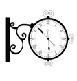 clock ancient black vector image