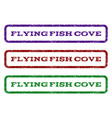 flying fish cove watermark stamp vector image