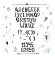 hand drawn creative alphabet isolated letters on vector image