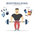 Happy bodybuilder vector image